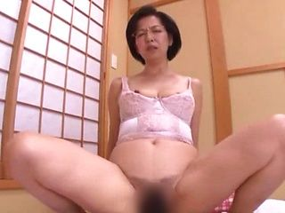 Shy Japanese mature got hammered good