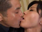 Nice Japanese mature gets her pussy poked hard picture 15