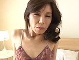 Mature Imamiya Keiko in lingerie nailed deep