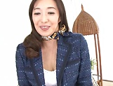 Cock starved Otowa Ayako shows off her goodies picture 13