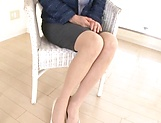 Cock starved Otowa Ayako shows off her goodies picture 5