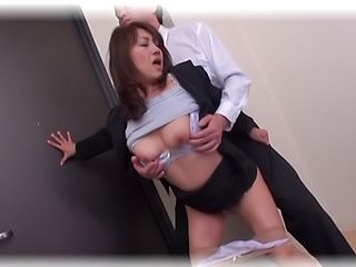 Rear stand fuck with the sexy Ikumi Kondou