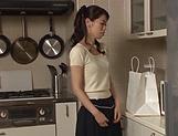 Hot Asian minx Sugiura Tae fulfills her sexual desires picture 14