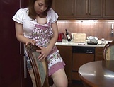 Sensual wife Yamaguchi Mari enjoys a pole in her muff
