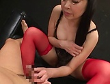 Mature in red stockings, Akiyama Miho superb sex play
