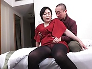 Cock-starved Japanese mature chick banged in a doggy-style