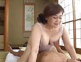 Japanese mature got a creampie after sex picture 1