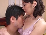 Horny lady with glasses got banged hard
