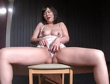 Mature Asian chick enjoys vibrators and pussy fisting picture 14