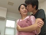 Charming Takita Eriko fucked good in naughty kitchen delight picture 12