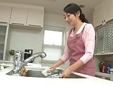 Charming Takita Eriko fucked good in naughty kitchen delight