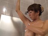Fujishita Rika thrilled by a senaul soaping