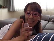 Savory Fujishita knows how to handle a huge dick