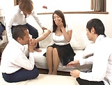 Lusty beauty Kobayakawa Reiko drilled in a foursome picture 11
