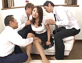 Lusty beauty Kobayakawa Reiko drilled in a foursome picture 13