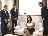 Lusty beauty Kobayakawa Reiko drilled in a foursome picture 4