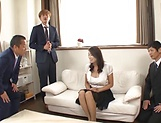 Lusty beauty Kobayakawa Reiko drilled in a foursome picture 5