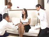 Lusty beauty Kobayakawa Reiko drilled in a foursome picture 8