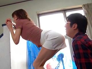 Horny Japanese woman got banged hard