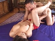 Adorable Asian woman gets her pussy delighted kinkly