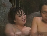 Horny Asian chick enjoys a soapy sex session