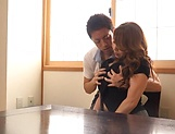 Kazama Yumi featured in nasty pussy pounding picture 9