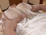 Hayama Nobuko likes getting toyed in her wet lingerie picture 13