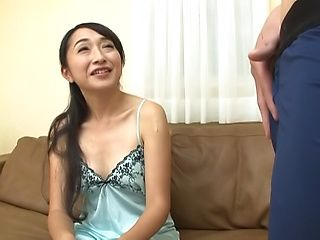 Enchanting Takita Eriko toys pussy in solo action