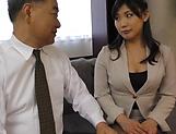 Fujishita Rika pleasured with a kinky tit licking
