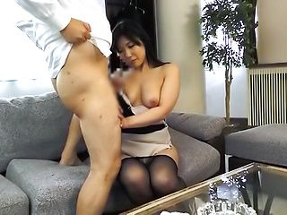 Fujishita Rika pleasured with a kinky tit licking