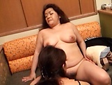 Intense pussy licking session involving sexy chubby milfs picture 14