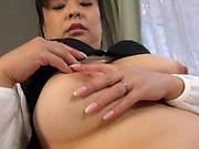 Alluring beauty enjoys toying her wet vagina