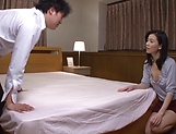 Mature Japanese babe enjoys a hot wild fuck
