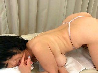 Kinky lesbians Mizuno Yoshie and Shima Mitsuko ride a sex toy