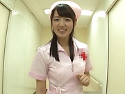 Nurses sharing fat cock in sexy Japanese POV play