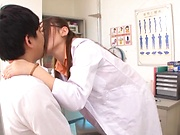 Hot mesmerizing Asian babe gives an amazing blowjob