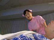 Hot nurse Yume Kana enjoys a sensational patient fuck session