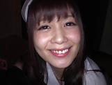 Konno Hikaru performs a deep-throat blowie