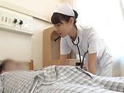Spicy nurse pleasures a throbbing dick