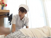 Naughty nurse has her sexual thirst quenched