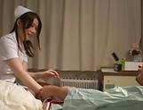 Cock craving nurse gets a worthy orgasm delight