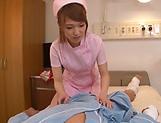Nurse Shiina Sora tastes patient's cock in oral scenes