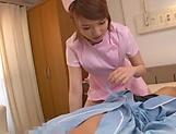 Nurse Shiina Sora tastes patient's cock in oral scenes picture 13