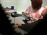Kinky Tokyo nurse flirts with her patient and fucks with him nicely