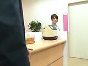 Glamorous Japanese nurse Momozono Mirai grinds on a cock