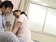 Japanese nurse fucking a patient well