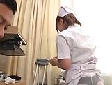 Wild nurse likes sexy action at work