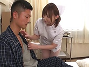 Wild nurse likes sexy action at work