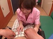 Lovely Asian nurse Momozono Mirai cannot stop riding a dick in pov