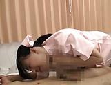 Japanese nurse enjoys a hardcore shag